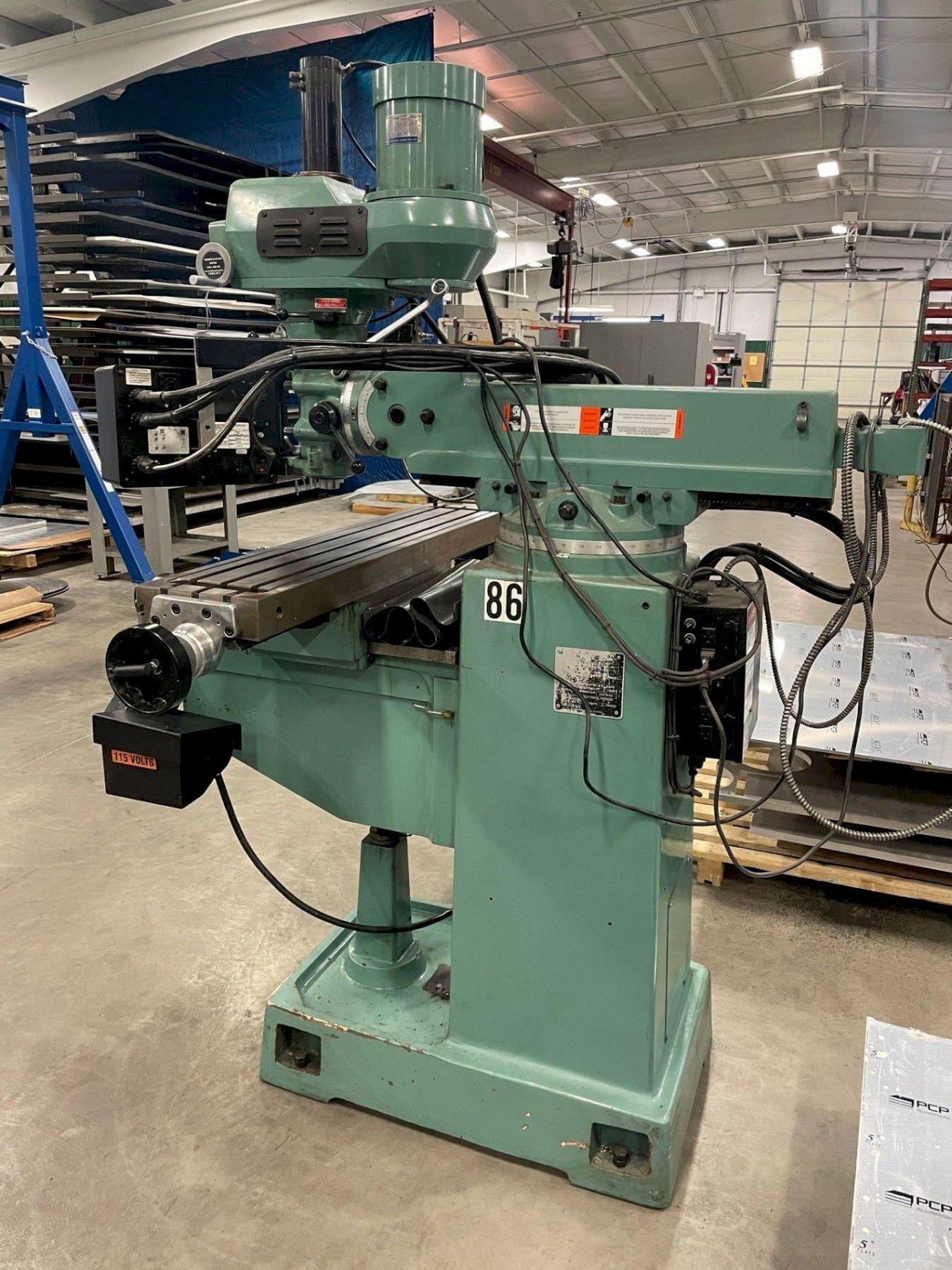 """SOUTHWEST INDUSTRIES TRAK K3 EMX 2-AXIS CNC VERTICAL KNEE MILL, SouthWest Industries ProtoTRAK EMX 2-Axis CNC Control, Quill Scale Feedback, 50"""" x 10"""" Table, 3 HP Spindle Motor, 4200 Spindle RPM, Power Drawbar, New 2013."""