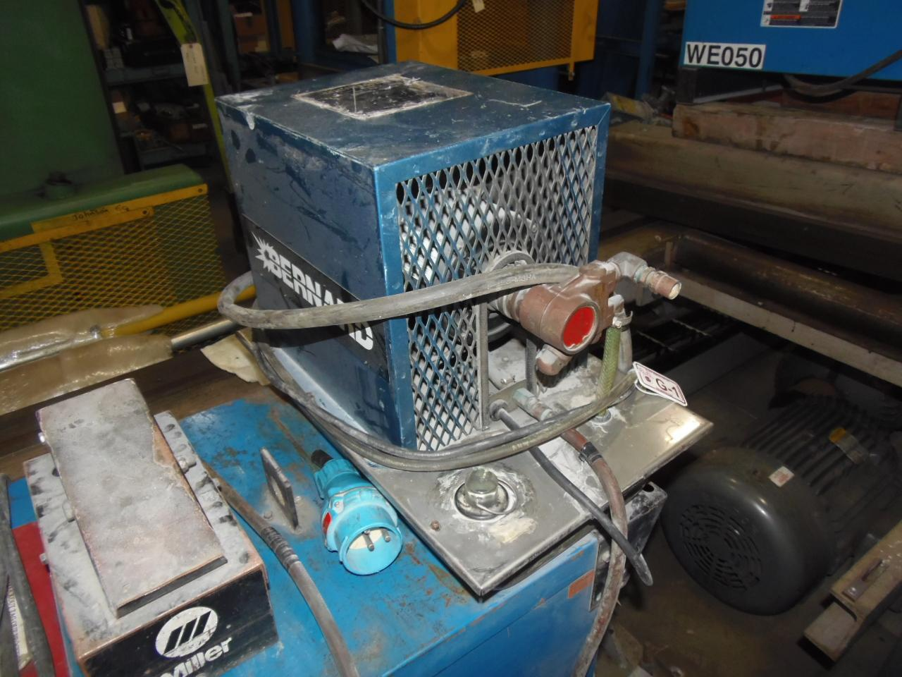 MILLER TIG WELDER, MODEL SYNCROWAVE 250, COOLER, GUN, CART