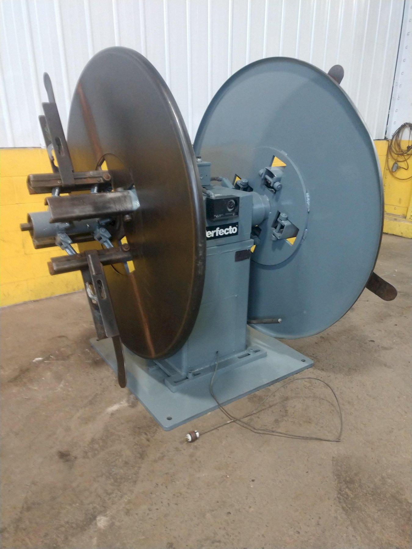 """6000 LB X 12"""" PERFECTO MODEL #RD4-12B DOUBLE END COIL REEL UNCOILER: STOCK 12048"""