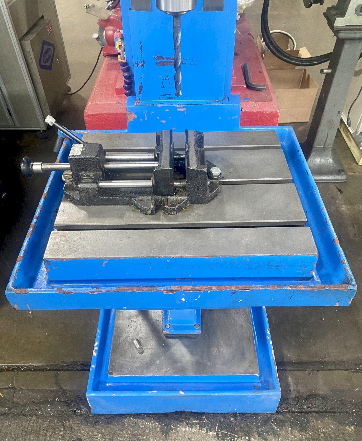 """KNUTH KSB50C COLUMN DRILL PRESS, 19"""" x 22"""" Table, 13"""" Throat, 8"""" Vertical Head Travel, 12"""" Table Stroke, 29"""" Spindle to Table Distance, New 2010."""