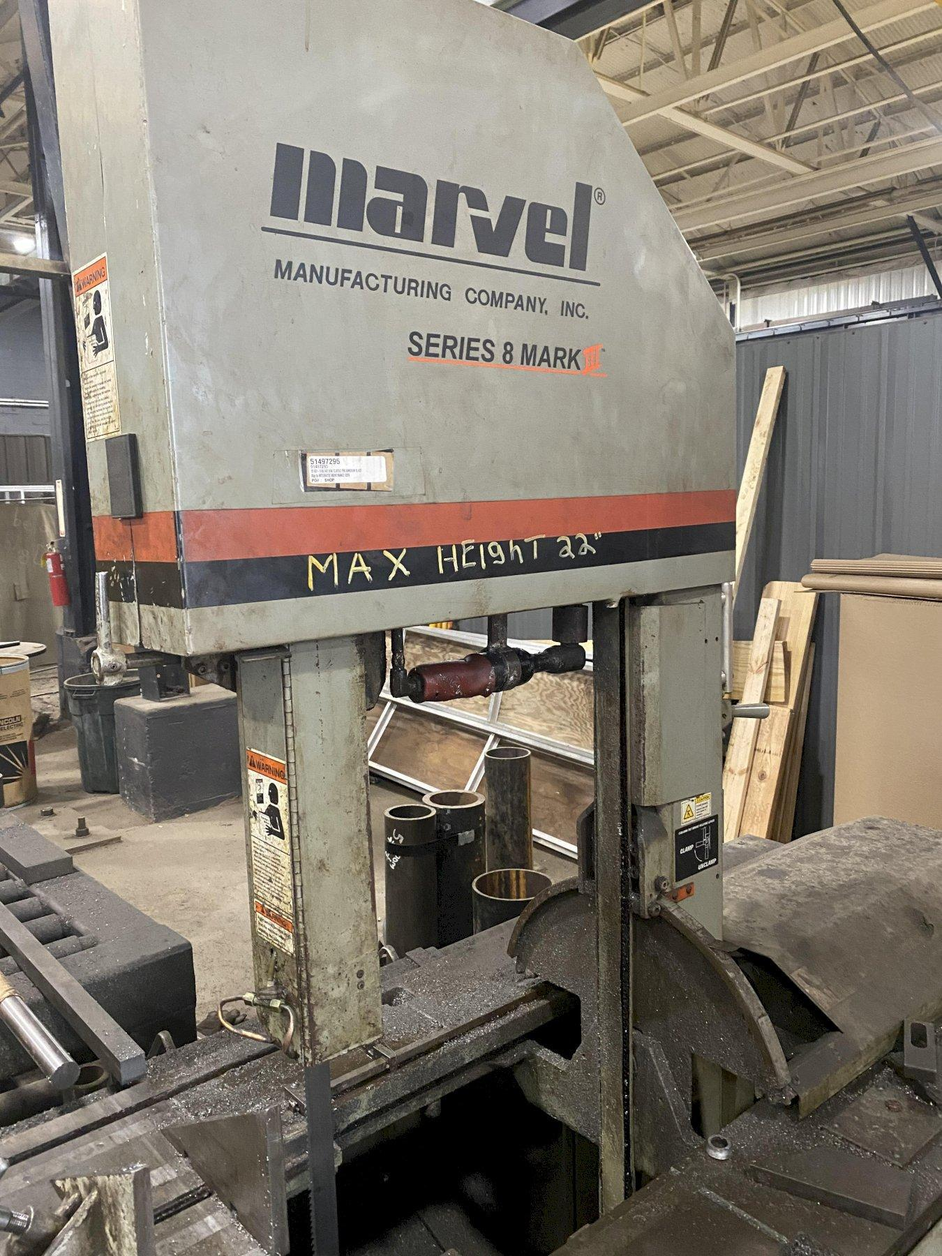 "18"" x 22"" MARVEL SERIES 8 MARK III VERTICAL TILTING BANDSAW"