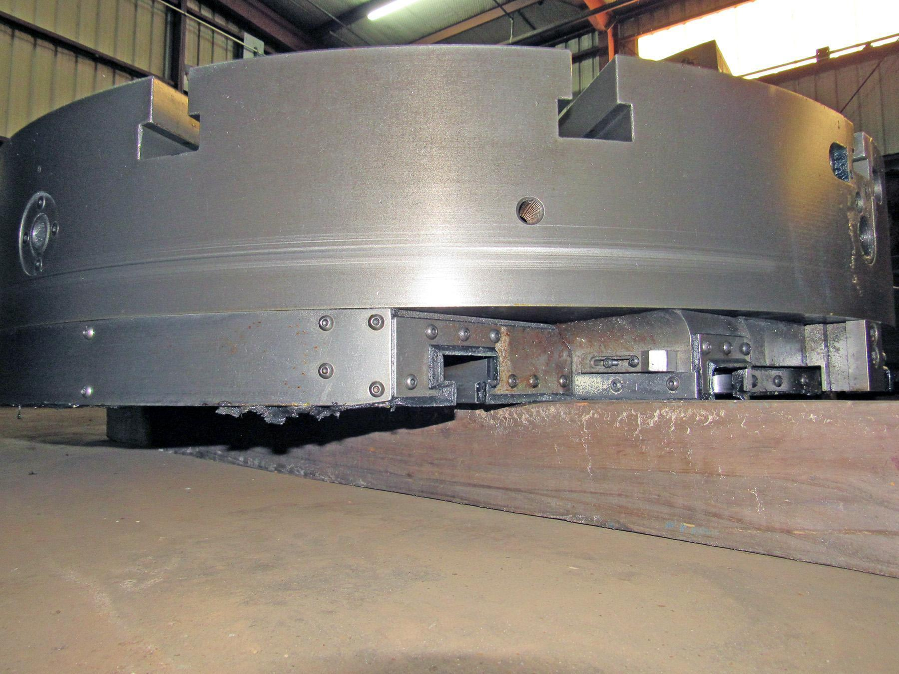 """USED, 48"""" 3-JAW CHUCK FROM GIDDINGS & LEWIS VTC 48 CNC VERTICAL BORING MILL"""