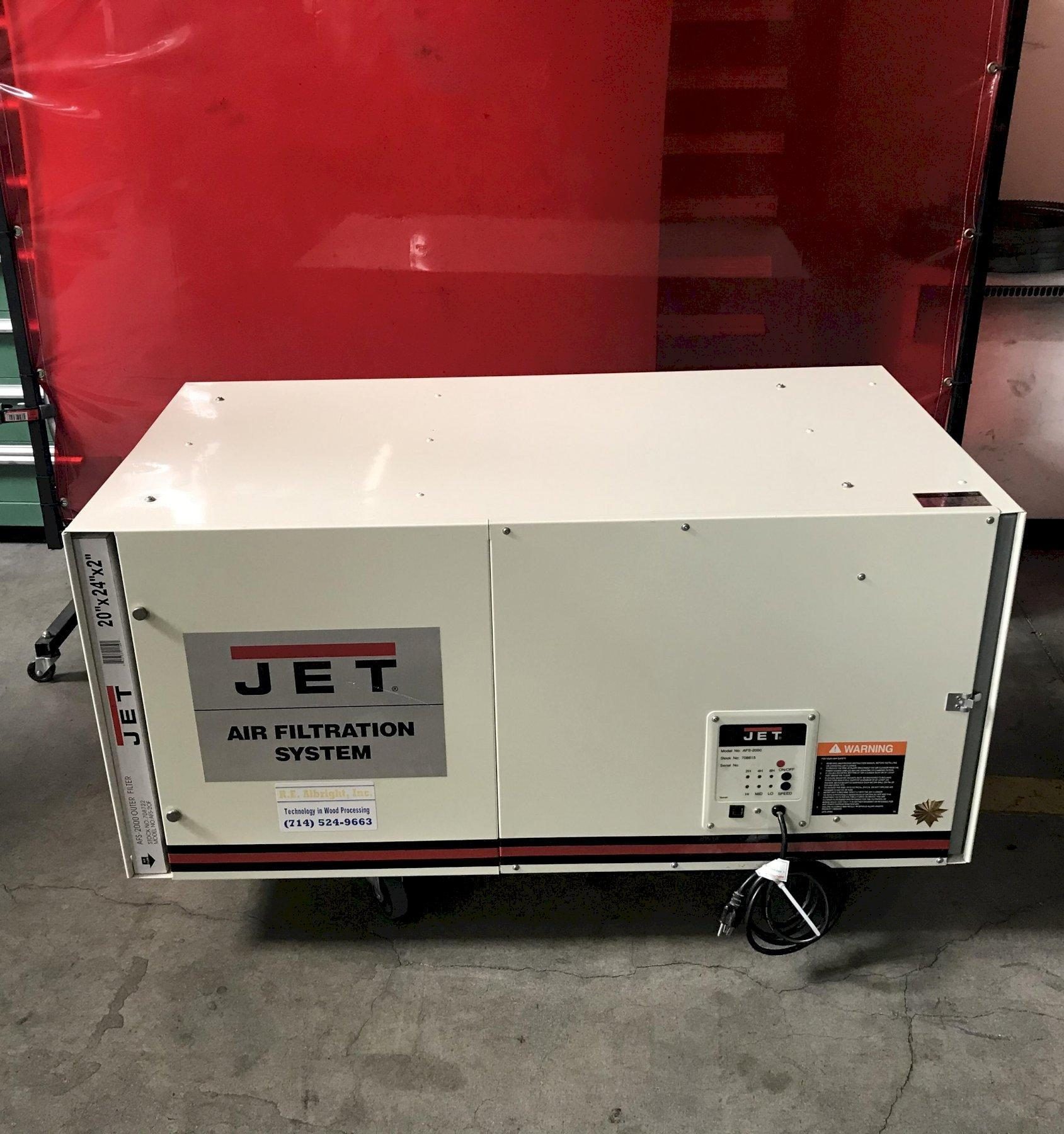 Jet AFS-2000 Air Filtration System 2011 with: 1700 CFM Air Filtration, 3-Speed, Remote Control.