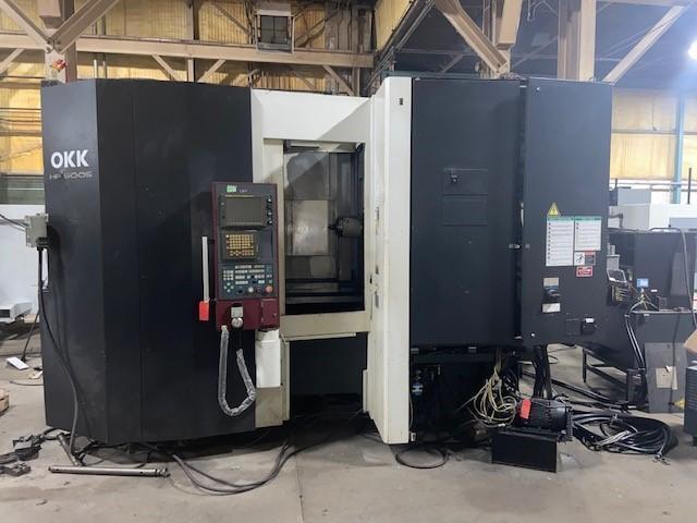 "OKK HP500S CNC Horizontal Machining Center, Fanuc 180i, 19.6"" Pallets, 25""/25""/23"" Travels, 12K Spindle, CT40, 60 ATC, CTS, Hyd Clamp, 2006"