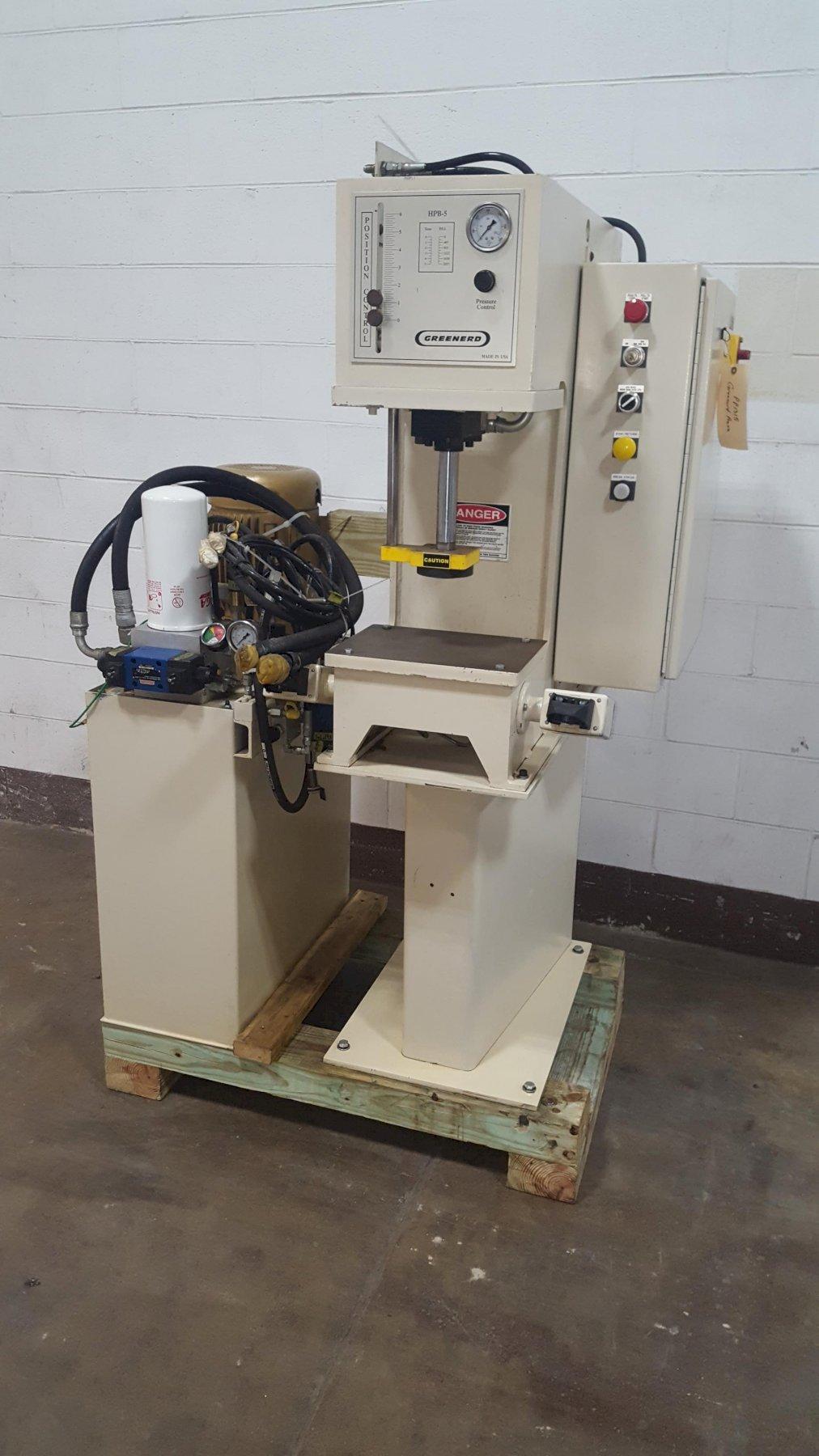 5-Ton Greenerd Model HPB-5 Floor Standing Hydraulic Press