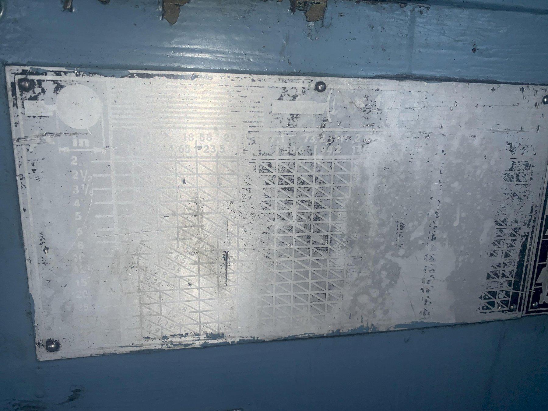"42"" X 240"" TOS MODEL SU100 HEAVY DUTY ENGINE LATHE"