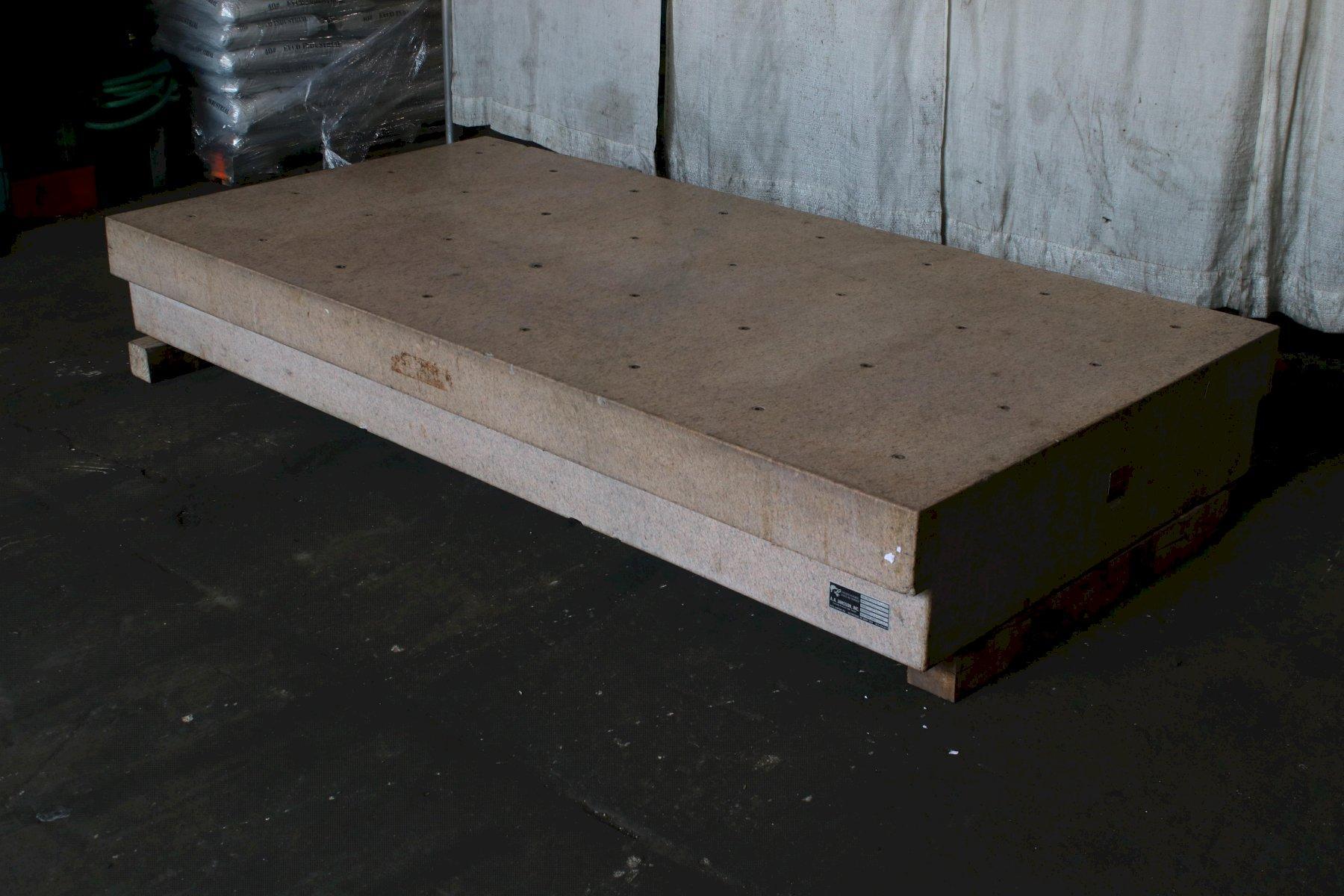 4' X 8' STARRETT  PINK GRANITE SURFACE PLATE: STOCK #74108
