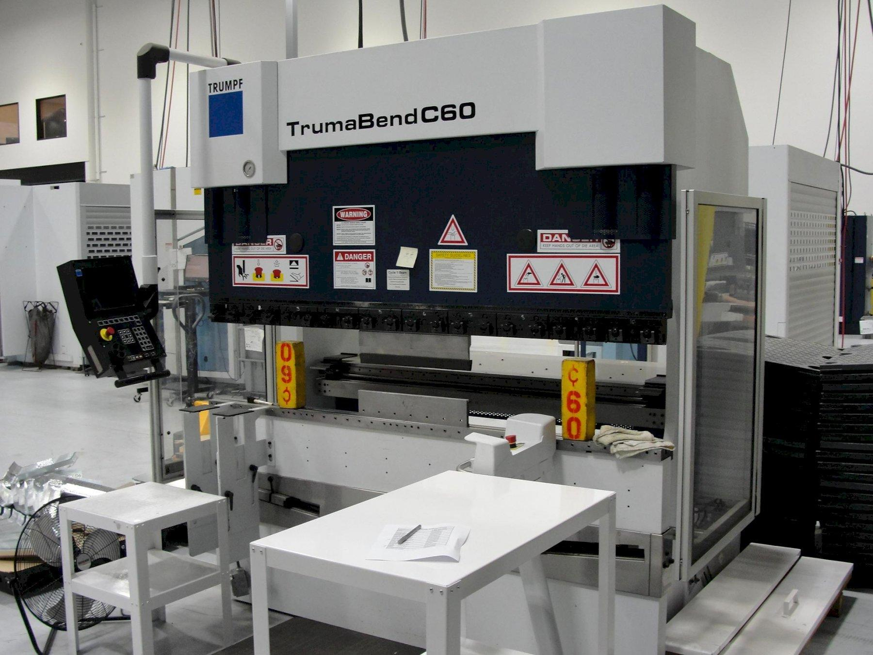 66 TON TRUMPF TRUMABEND C60 6-AXIS CNC PRESS BRAKE