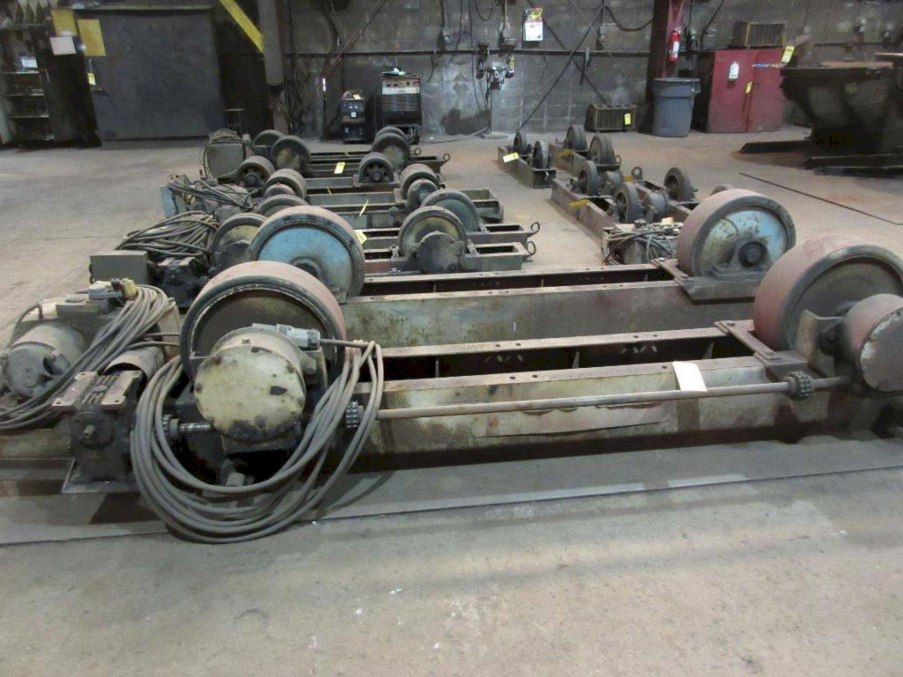 6 TON/12,000 LBS WEBB POWERED TANK TURNING ROLL SET. STOCK # 0519321