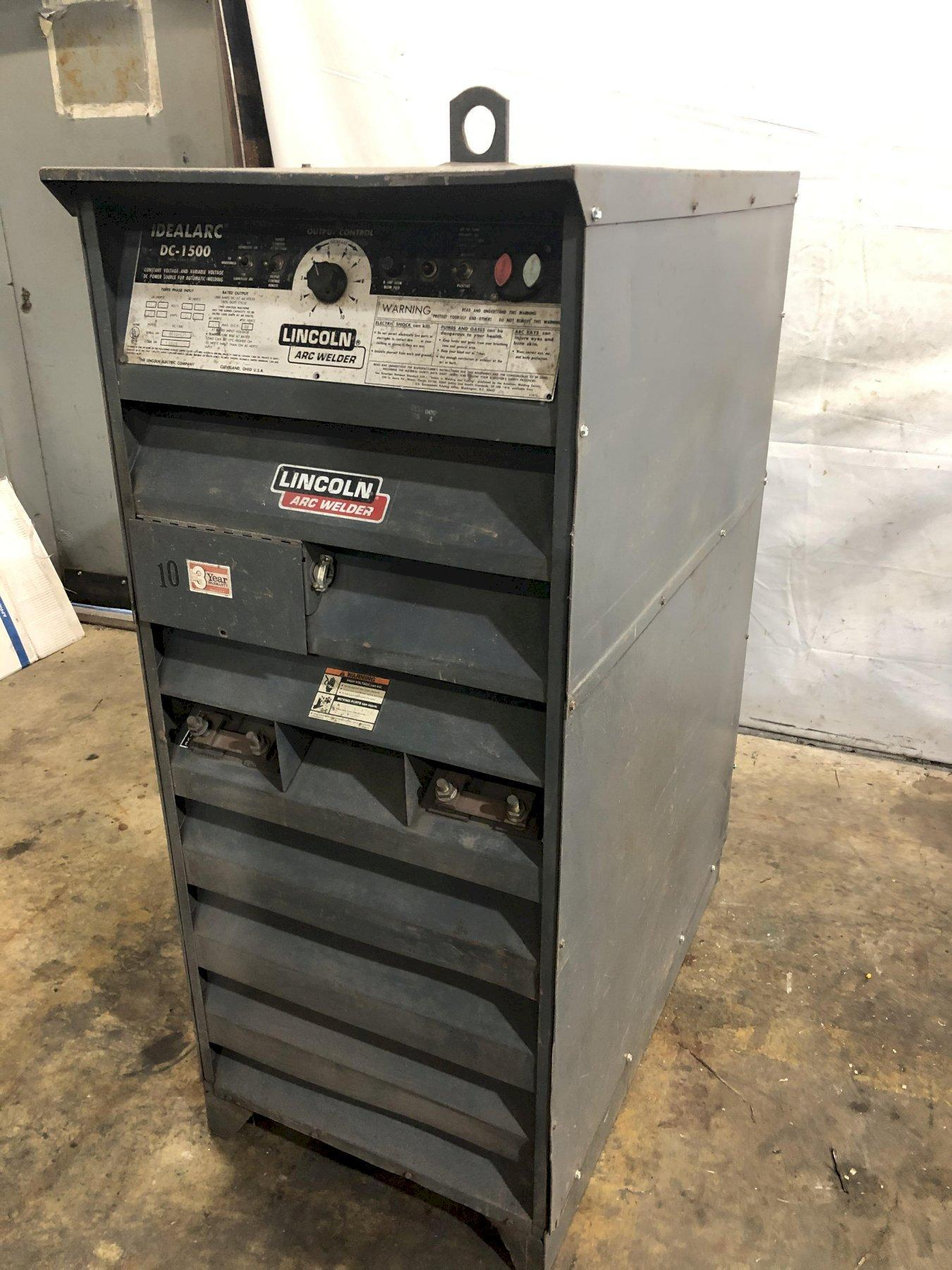 LINCOLN ELECTRIC MODEL #DC-1500 IDEALARC WELDER POWER SUPPLY: STOCK 13892