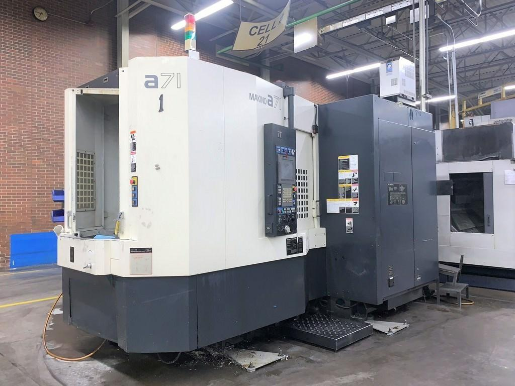 Makino A-71 CNC Horizontal Machining Center, Fanuc Pro 5, 137 Position ATC, CT50, 10,000 RPM, CTS, 19.7