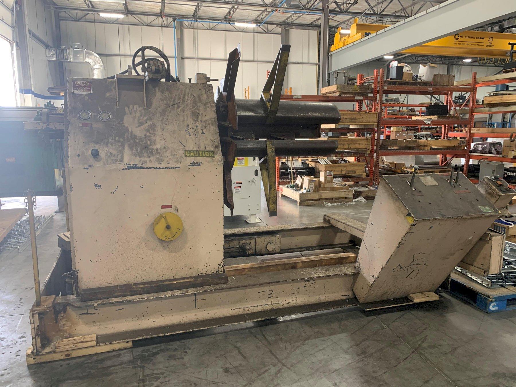 American Steel Line Motorized Coil Reel Uncoiler 10,000 Lbs.