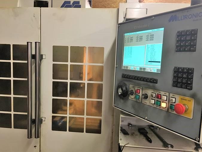 Milltronics VM20 CNC Vertical Machining Center, Extended X Axis Travel, Machine S/N 9171, New 2006.