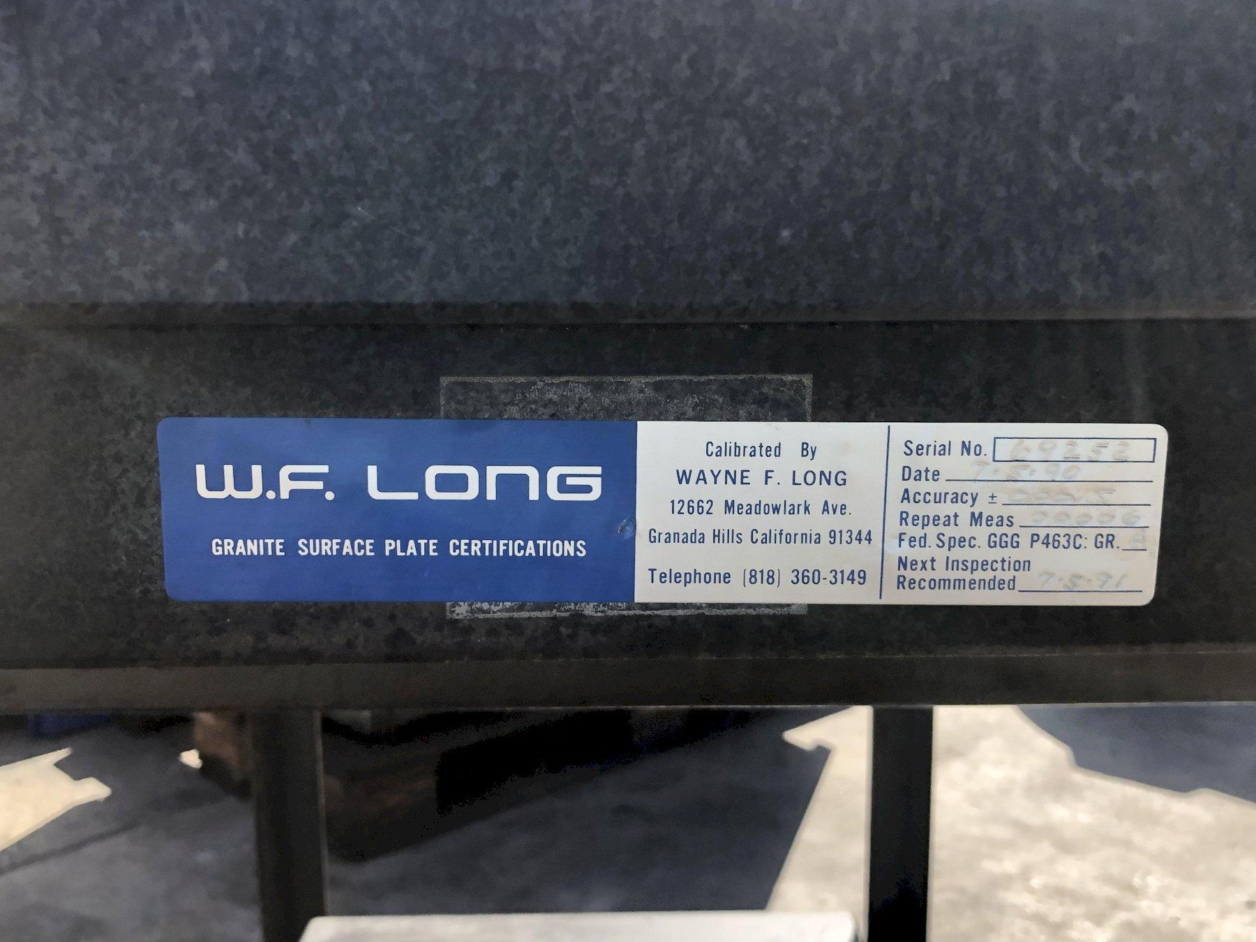 """Mojave W.F. Long Surface Granite Plate 48"""" x 36"""" x 6"""" with: Stand and (1) Extra Granite Plate: 29-7/8""""  x20"""" x 2"""", Grade A."""