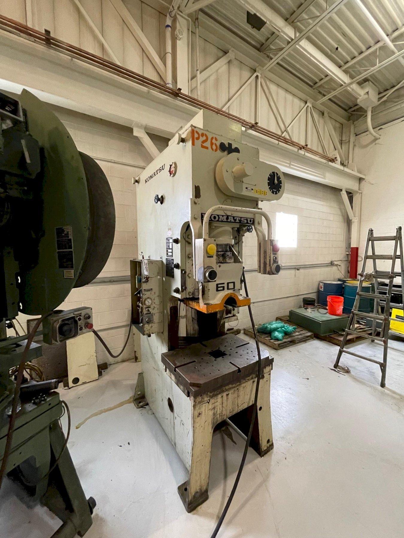 60 Ton KOMATSU OBS-60, C-Frame Press