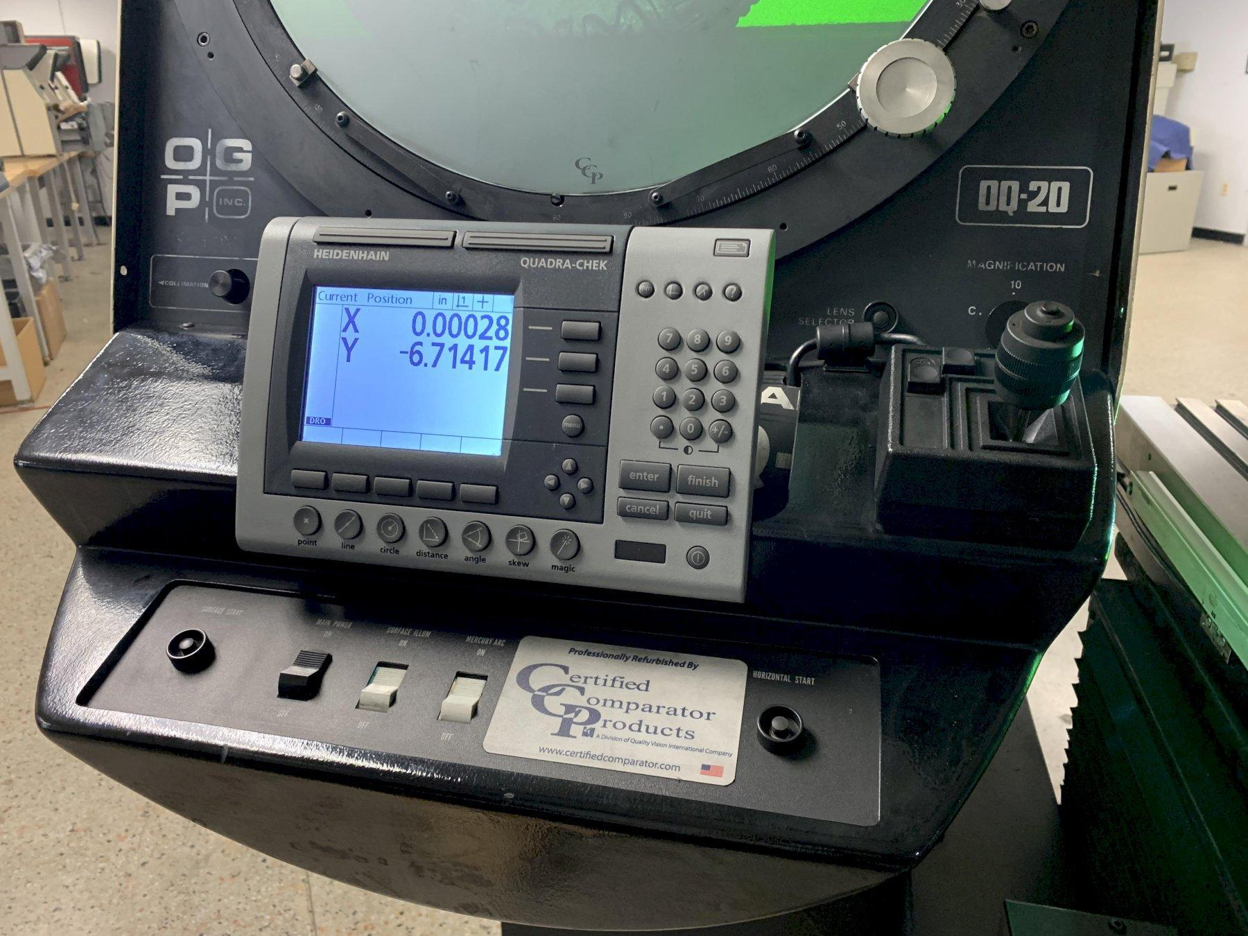 "20"" OGP (Optical Gaging Prodcuts) Model OQ20 Optical Comparator & Measuring Machine, S/N OQ200154."