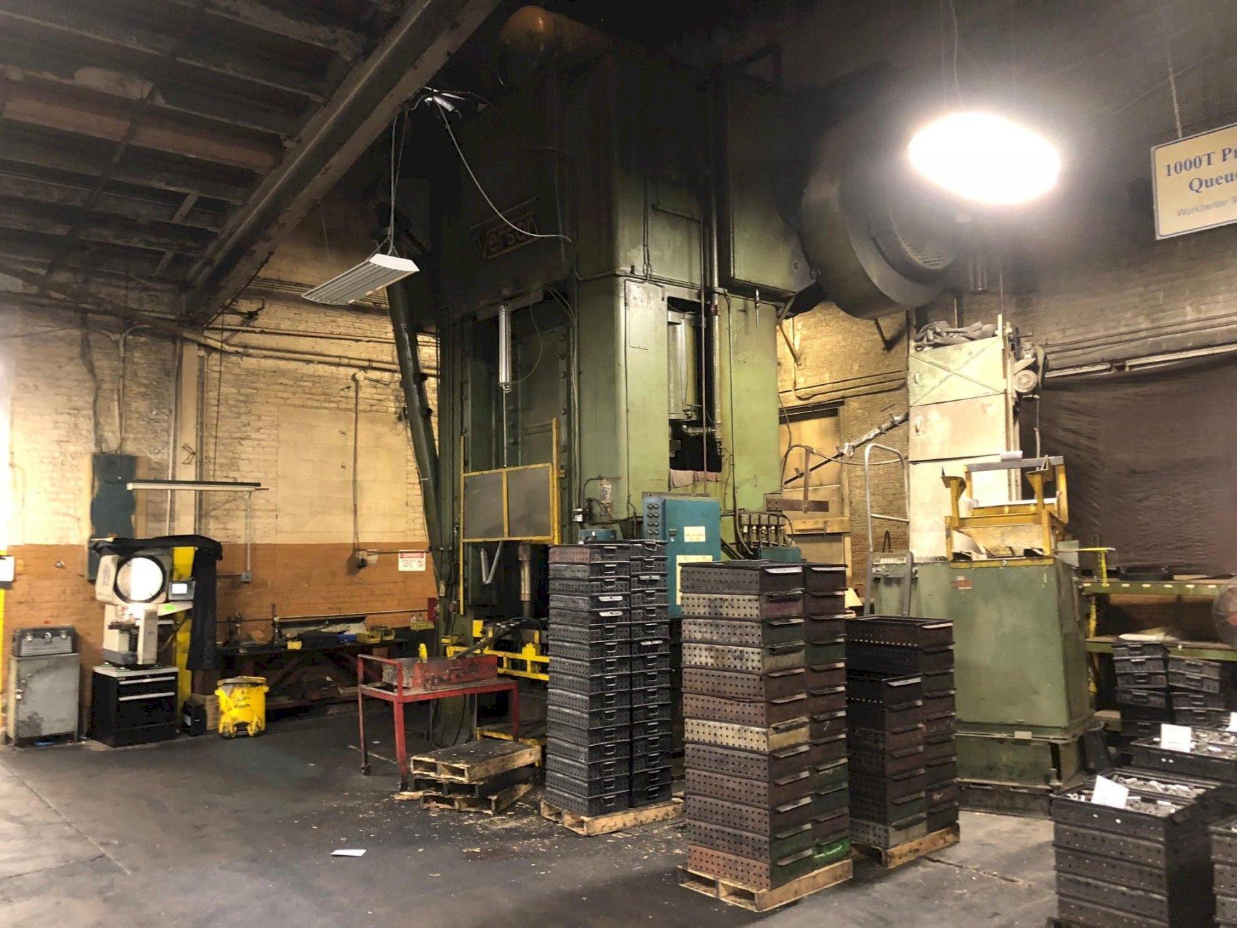 1000 ton Verson S1-1000-48-42t Straight Side Single Crank Press