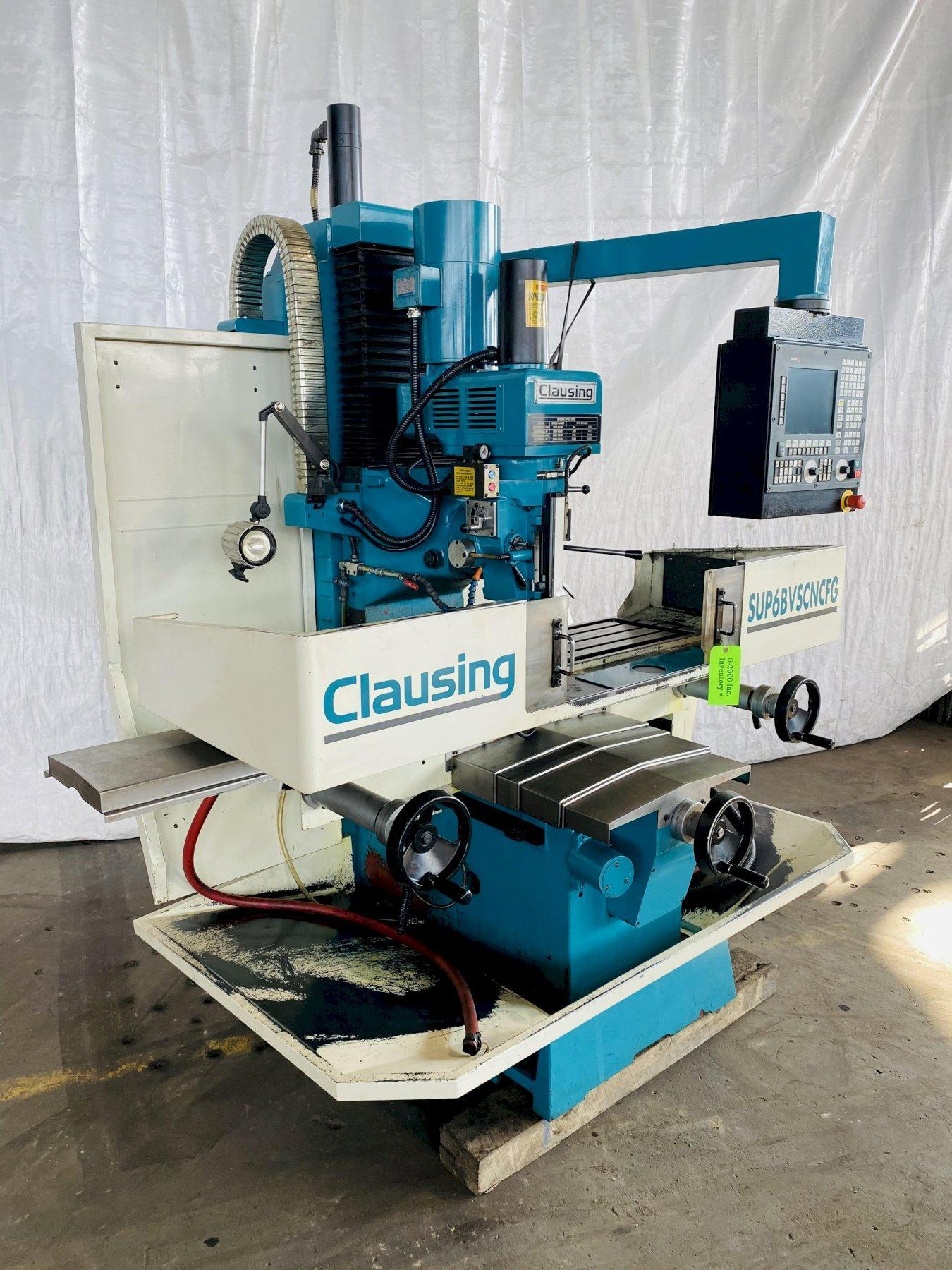 (2014) 5 HP CLAUSING SUP6BVSCNCFG 3 AXIS SUPER BED MILL. STOCK # 0307821