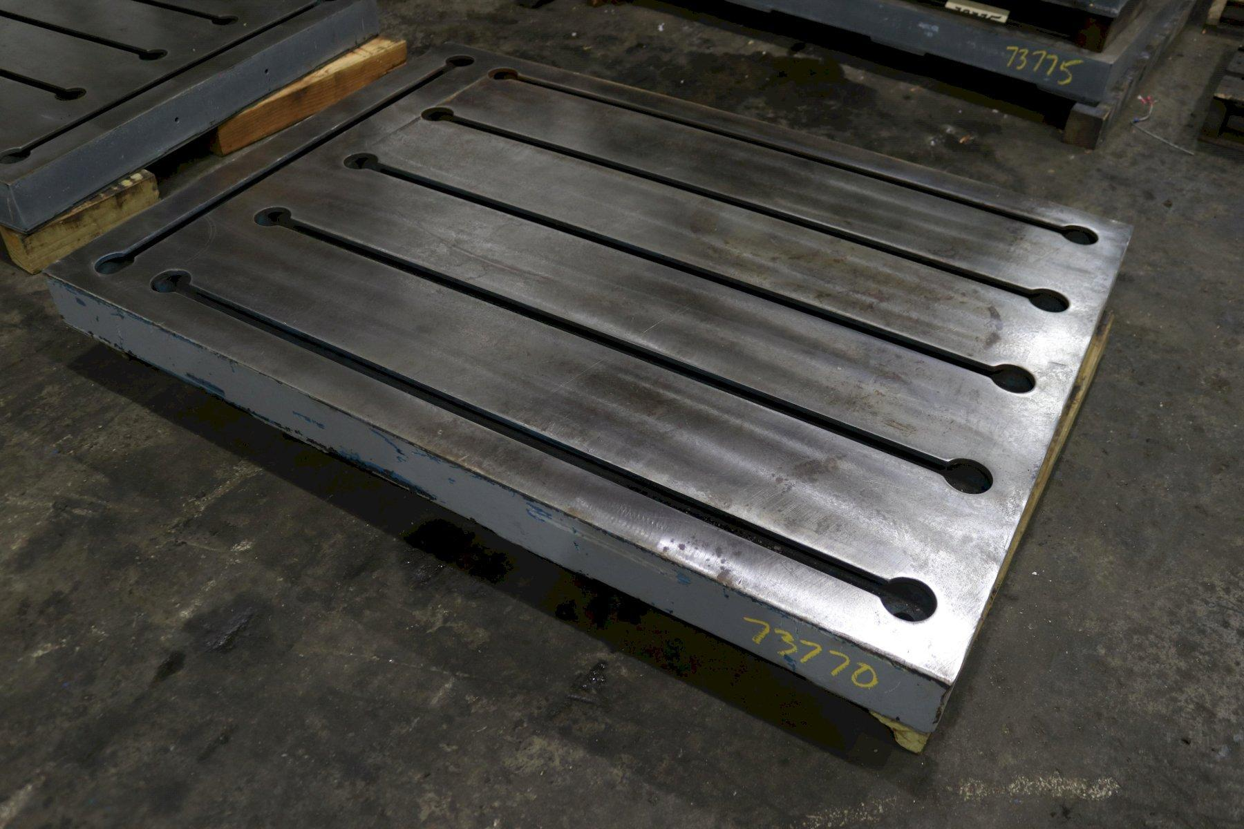 "43-1/2"" X 59"" X 4"" T SLOTTED STEEL LAYOUT PLATE: STOCK #73770"