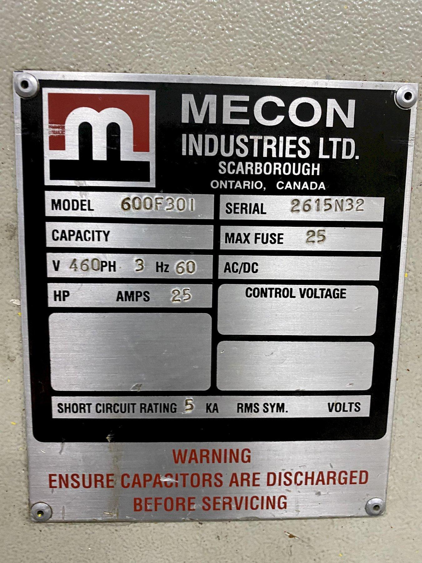 "20,000 lbs x 30"" Mecon Servo Feed Line, Reconditioned"