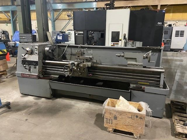 """17"""" x 80"""" Clausing Colchester Lathe, 12"""" Chuck, IN/mm, 3.125"""" Bore, 2 Axis DRO. Tailstock, Tool Post, 10.5"""" O/C"""