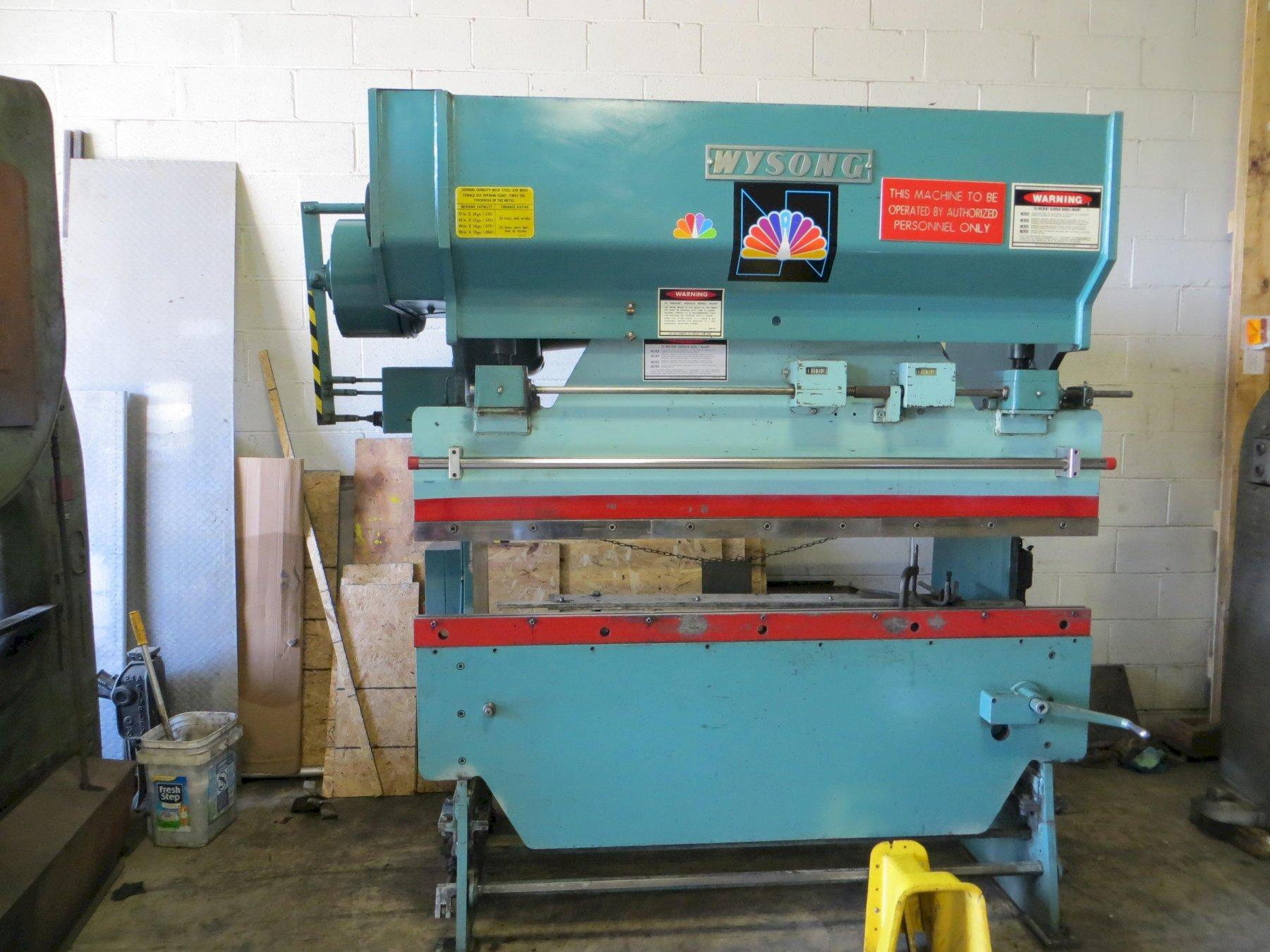 35 Ton x 6 ft, Wysong Mechanical Press Brake Model 3572