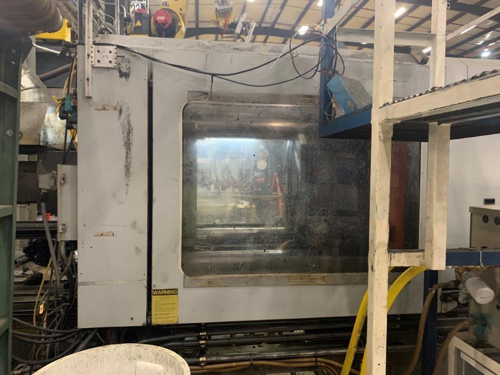 Cincinnati Used VH500-54 Injection Molding Machine, 500 US ton, Yr. 1994, 54 oz.
