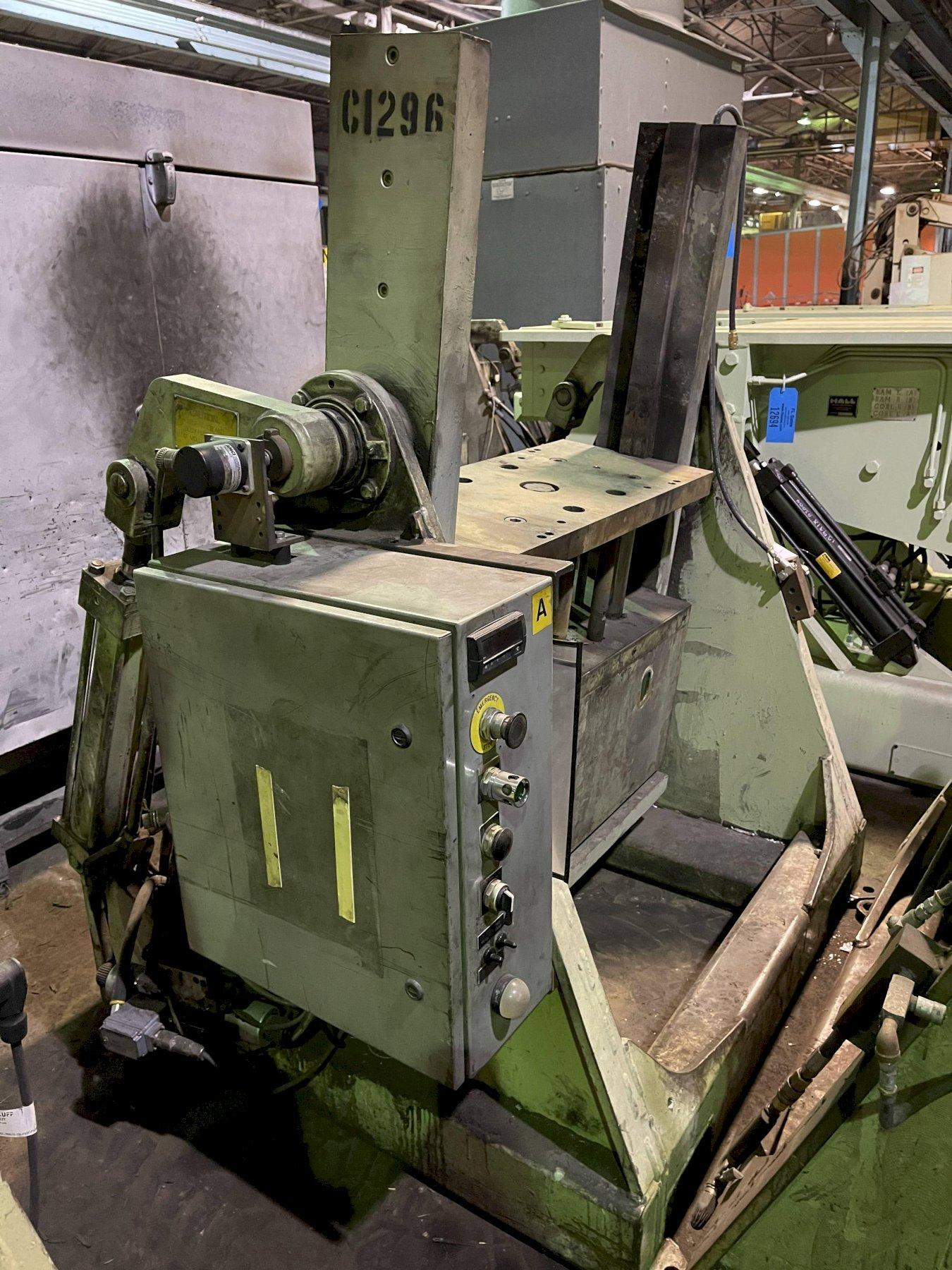 """Hall model RT3 permenant molding machine with controls s/n 4908, 33"""" x 20"""" platen"""