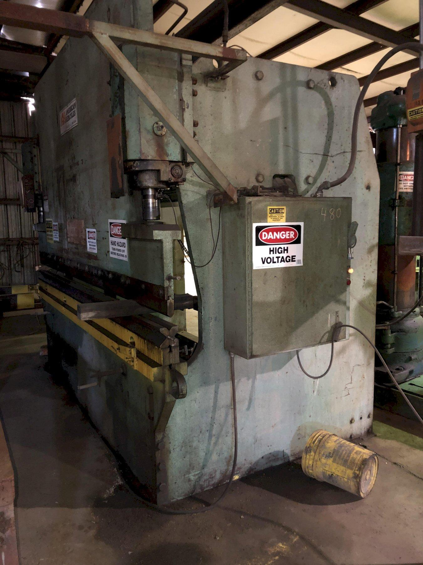 225 Ton x 12 ft. American Hercules Hydraulic Press Brake Model 225-12