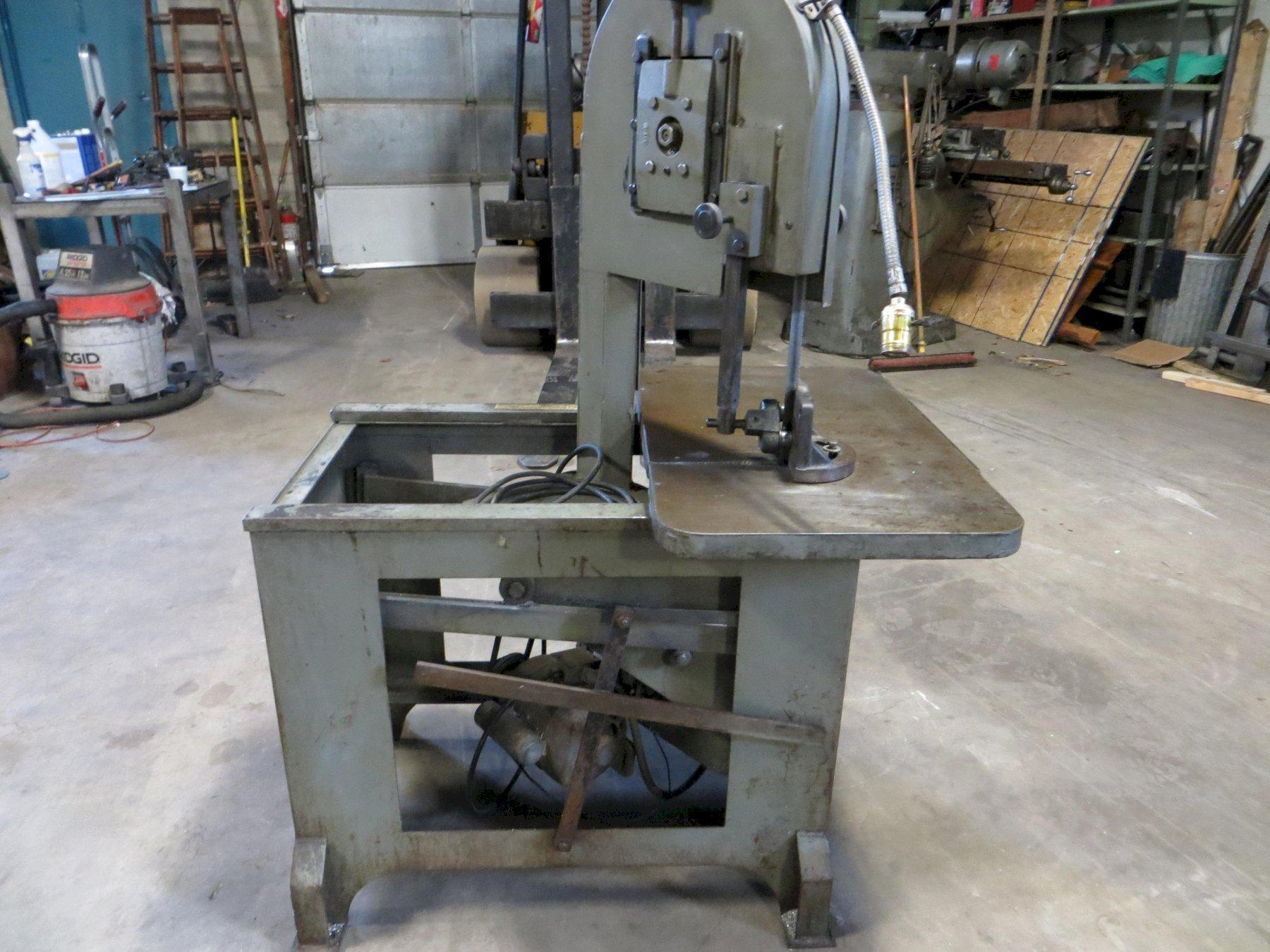 """8-3/4"""" Throat, Roll-In Vertical Band Saw Model E-1459"""