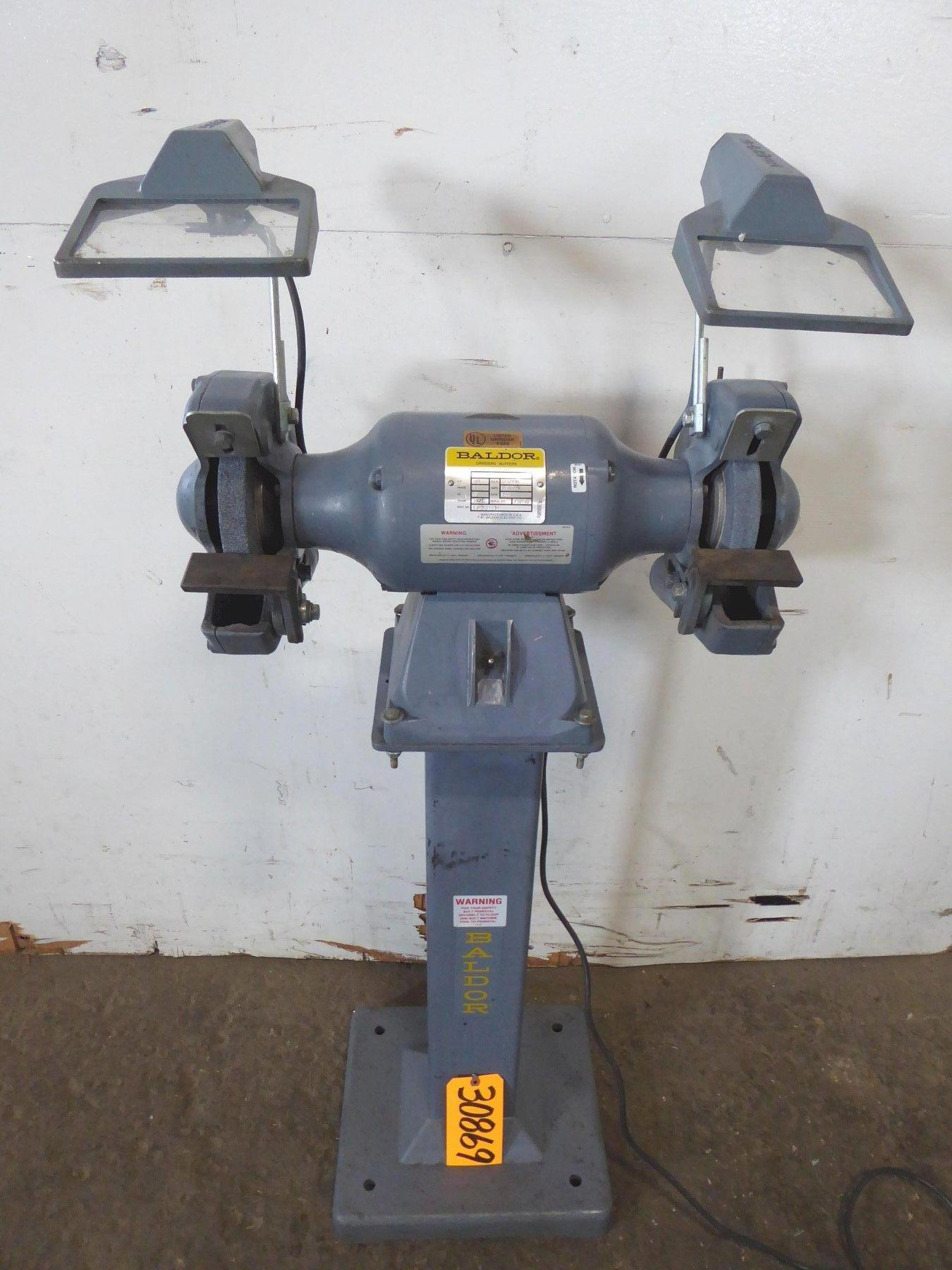 8″ Baldor Double End Grinder 8107WD, Pedestal Base, 3/4 HP, 1 Phase, Nice