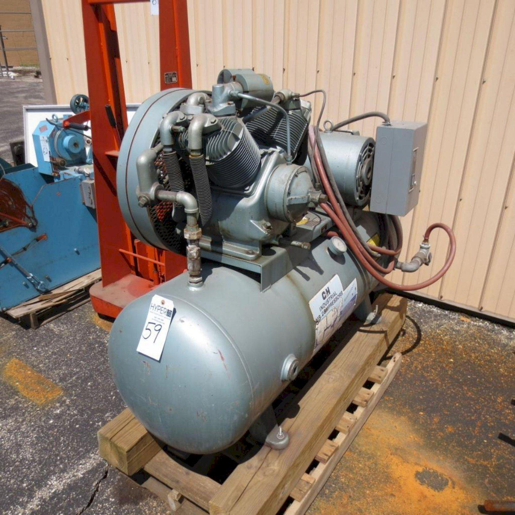 10 HP C & H AIR COMPRESSOR: STOCK #73443