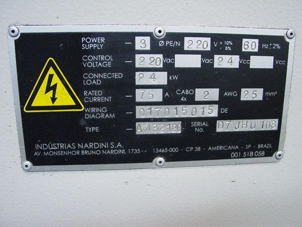 "32""/43"" x 120"" Nardini Gap Bed Lathe, Model AM32120, 32"" Swing, 120"" Centers, 43"" in Gap, Inch/Metric,Tracer, New 2000."