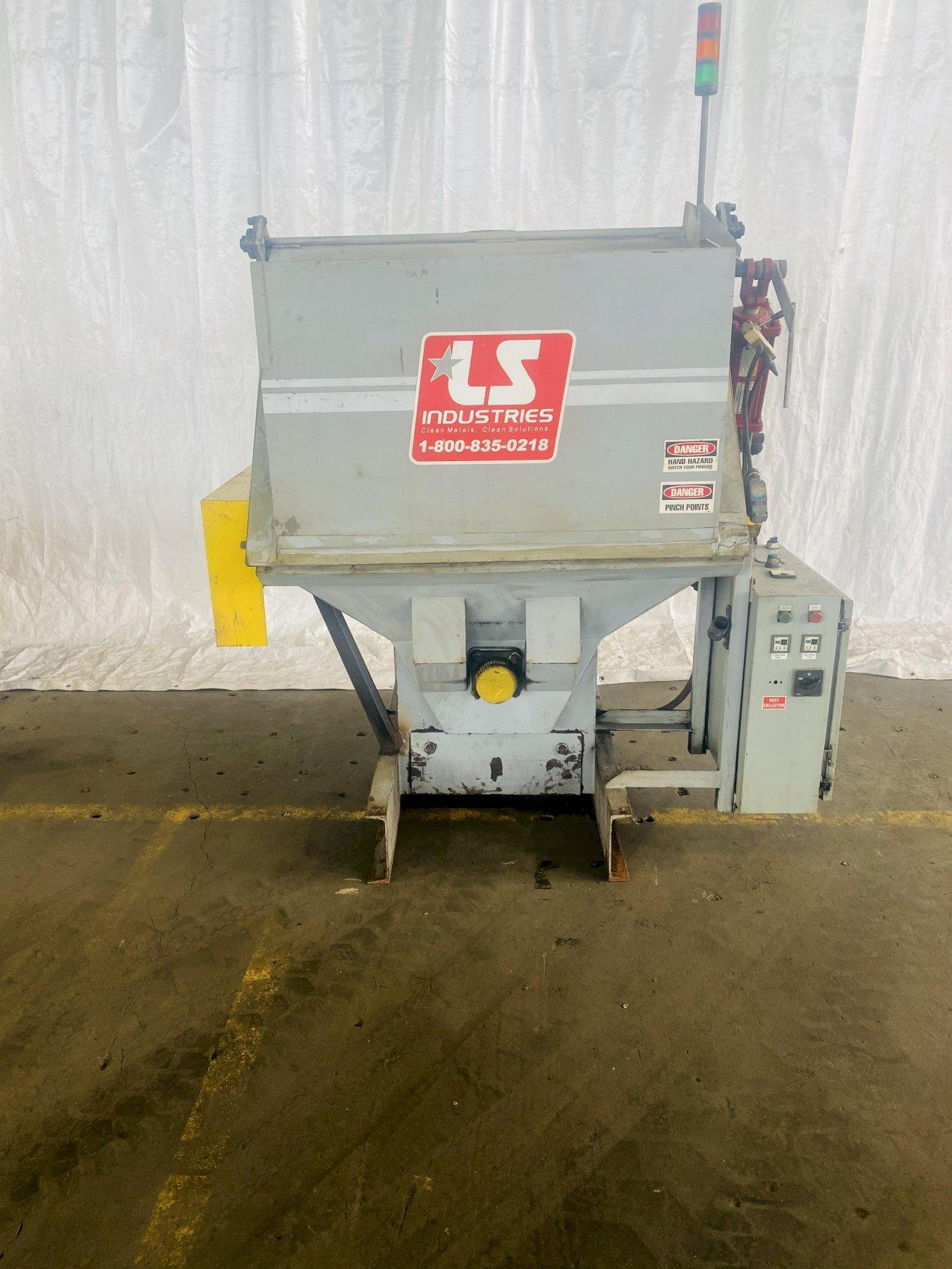 LS INDUSTIRES TUMBLE TYPE SHOT BLAST MACHINE. STOCK # 0406020