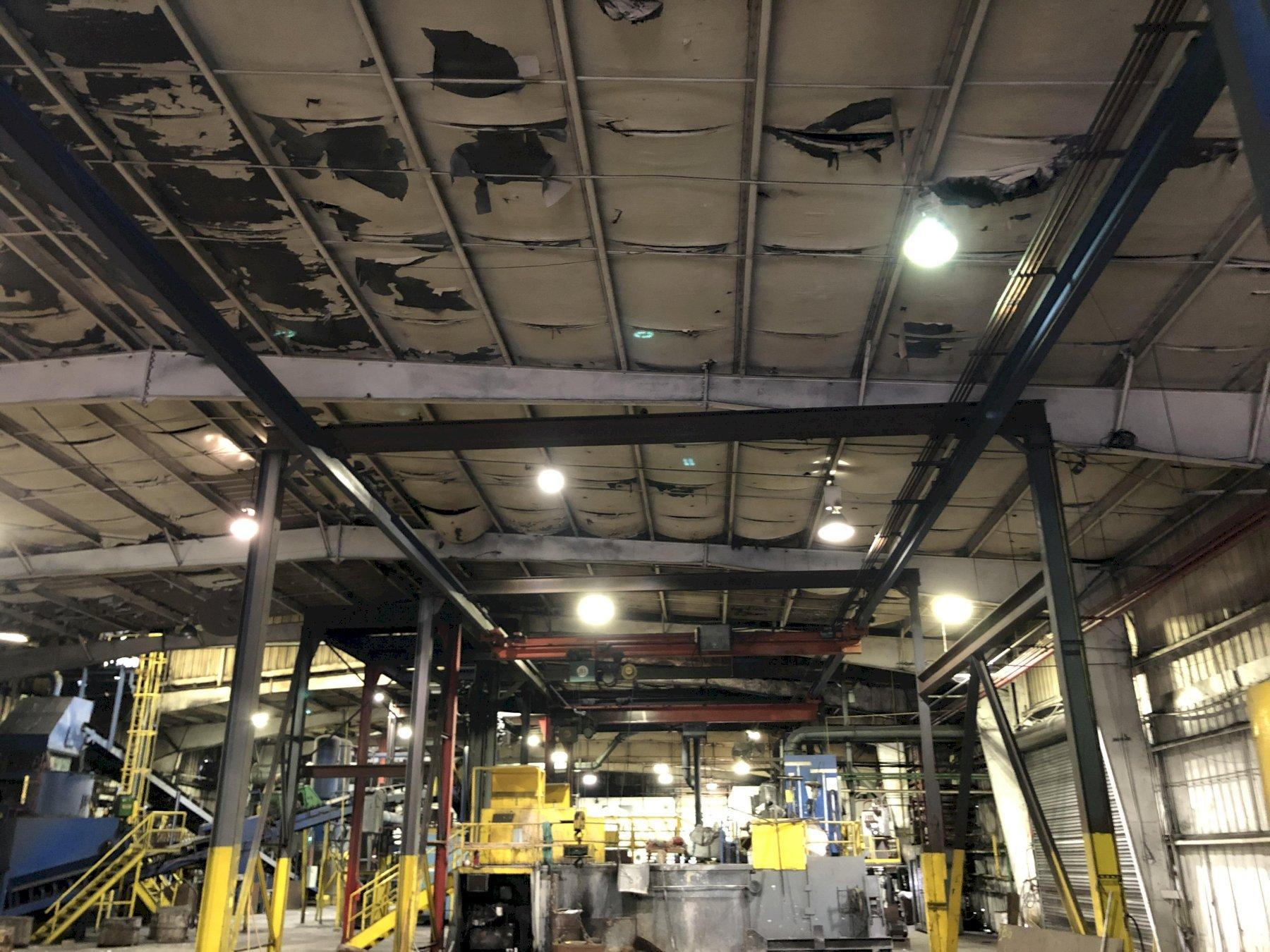 FURNACE CHARGE CRANE SYSTEM WITH APPROX. 100' SELF SUPPORTING RUNWAY AND COLUMNS, 1- APPROX. 25' REMOTE OPERATED BRIDGE CRANE 3 TON CAPACITY, TAG# 12  AND 1- APPROX. 25' PENDENT OPERATED BRIDGE
