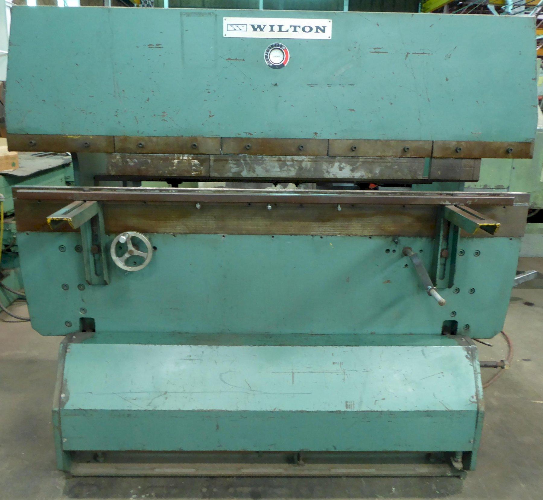 """35 Ton Wilton-Pneuco Press Brake, Model 6-35, Pneumatic, 78"""" O.A., 62"""" B.H., 3.5"""" Stroke, FOMBG, Clean"""