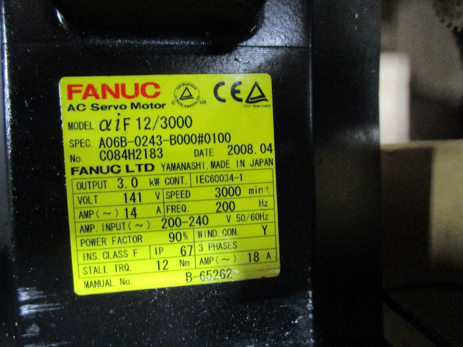Fanuc Servo Motor A06B-0243-B000