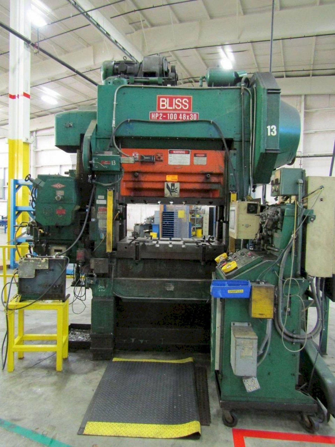 100 ton Bliss HP2-100-48-30 High Speed Press