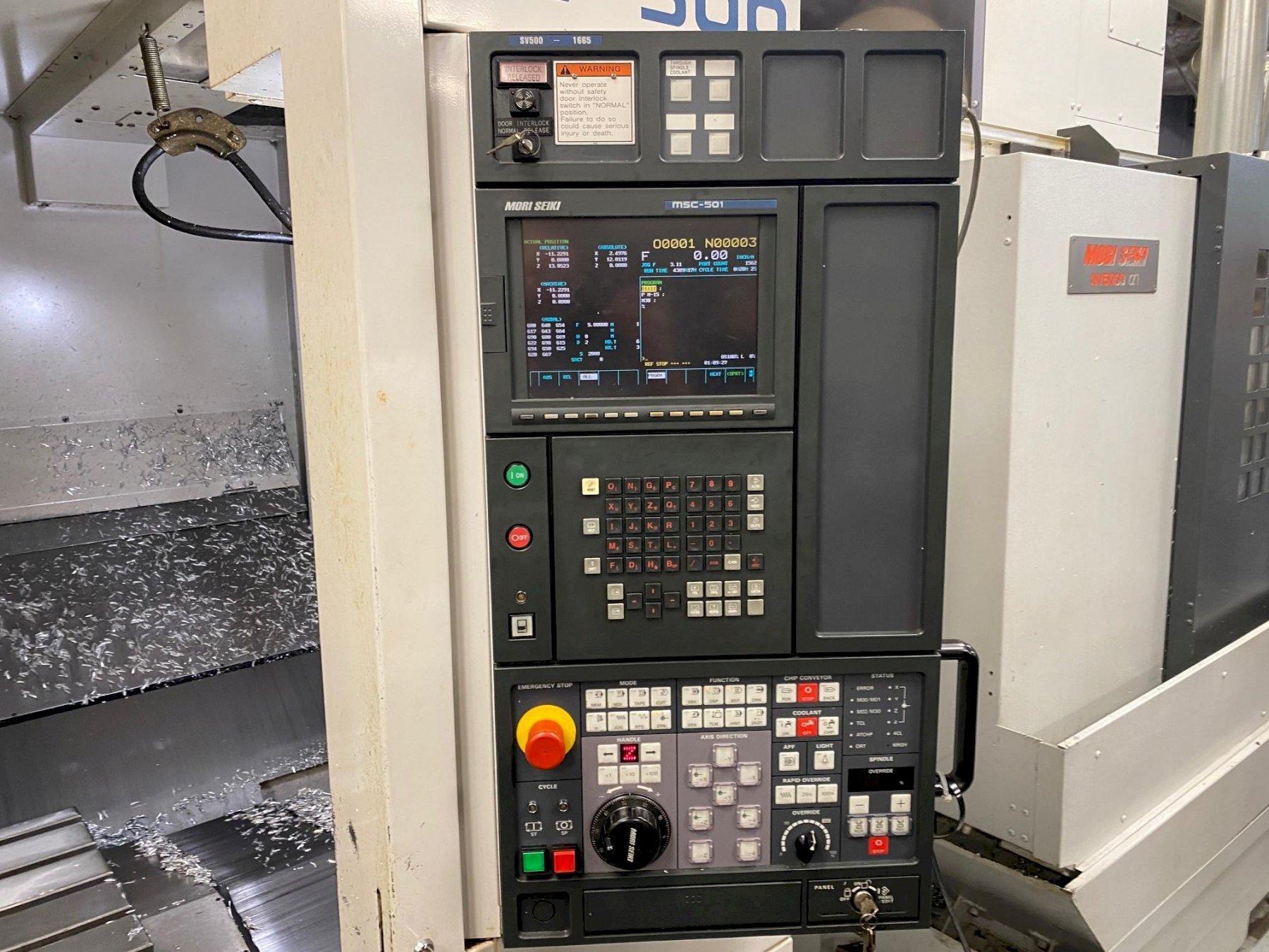 Mori Seiki SV-500 Vertical Machining Center