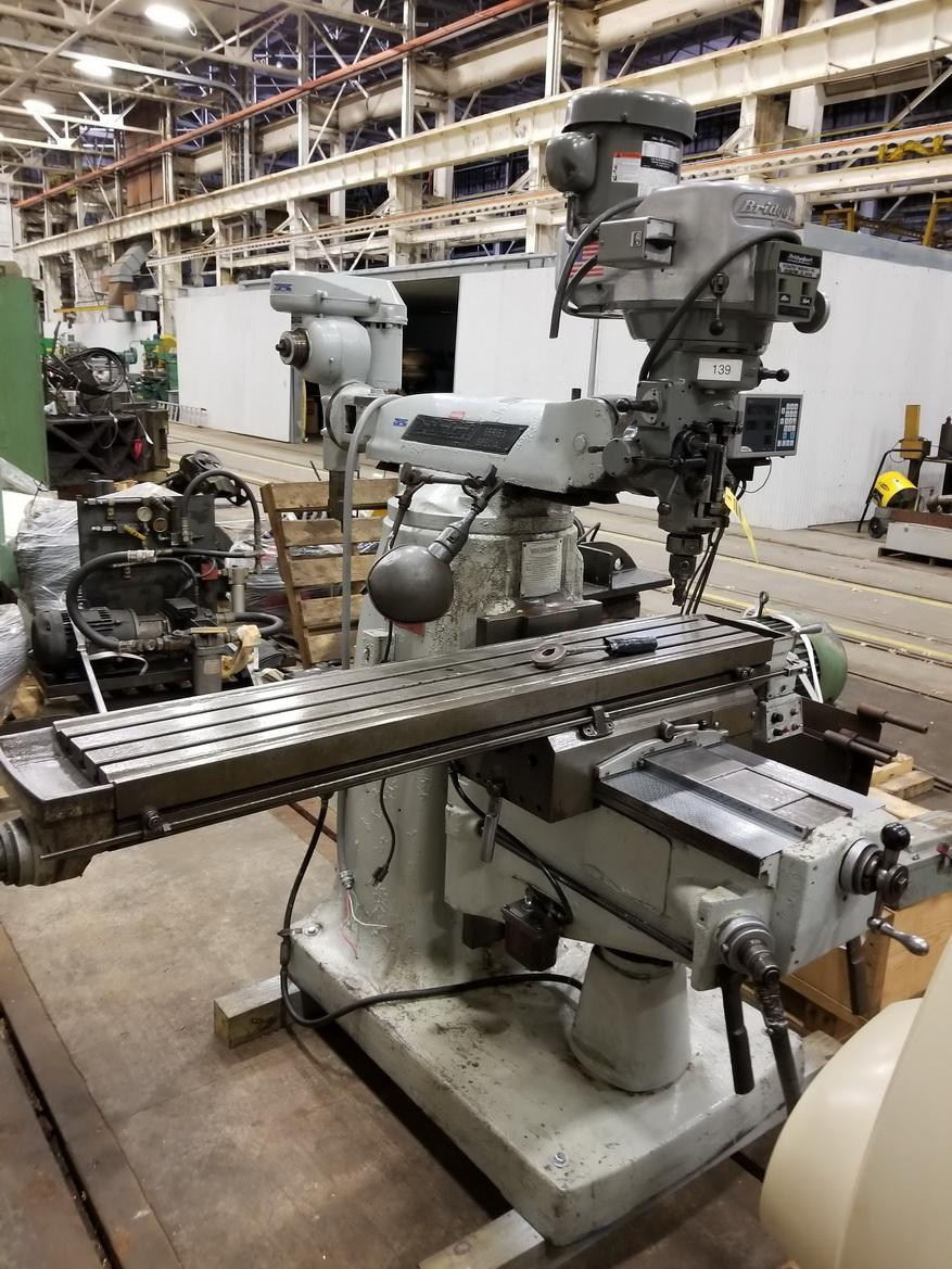 "BRIDGEPORT Series II Special Turret Milling Machine, 11"" x 58"" Table, DRO"