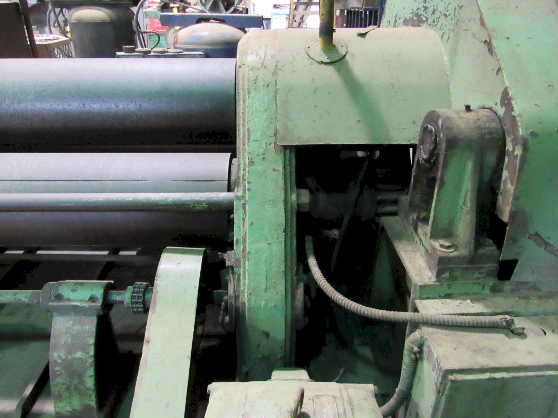 "USED, 6' X 7/8"" WEBB 3-ROLL PLATE ROLLING MACHINE"
