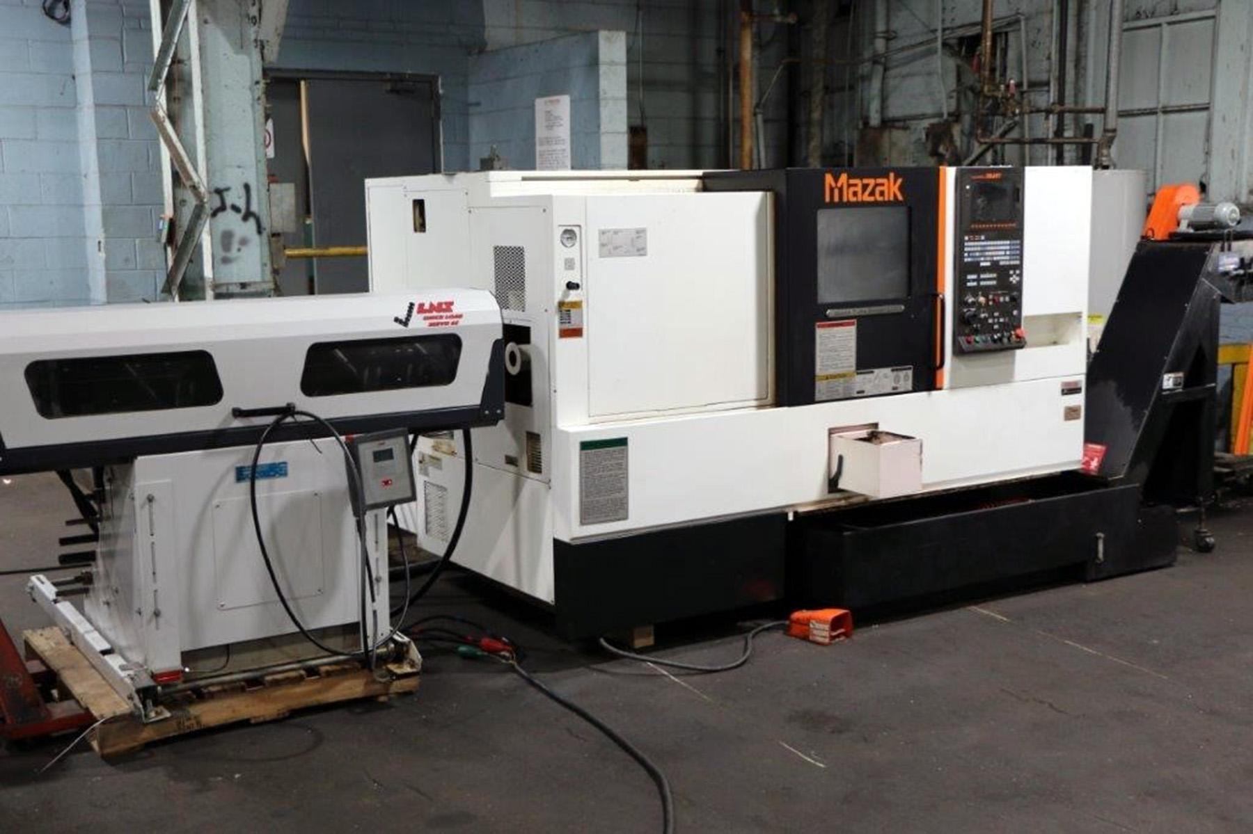 USED, MAZAK QUICK TURN SMART 200 CNC TURNING CENTER WITH LNS BAR FEEDER