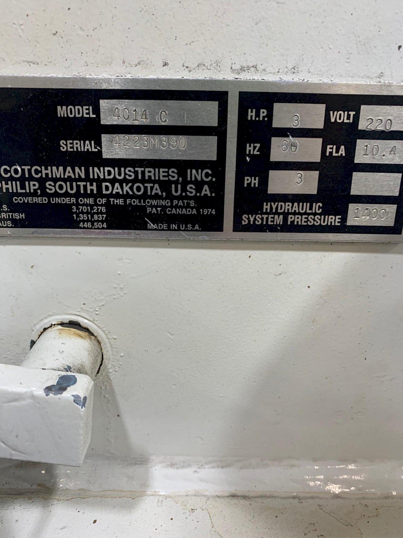 USED SCOTCHMAN 40 TON HYDRAULIC IRONWORKER MODEL 4014C, Stock # 10744, Year 1990
