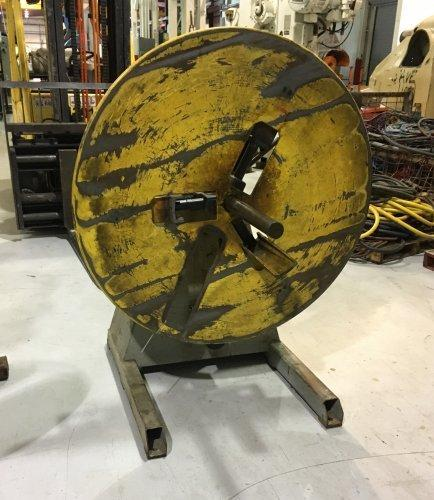 """1200 Lbs, P A INDUSTRIES, 12"""" Max Coil Width, 48"""" OD, Motorized"""