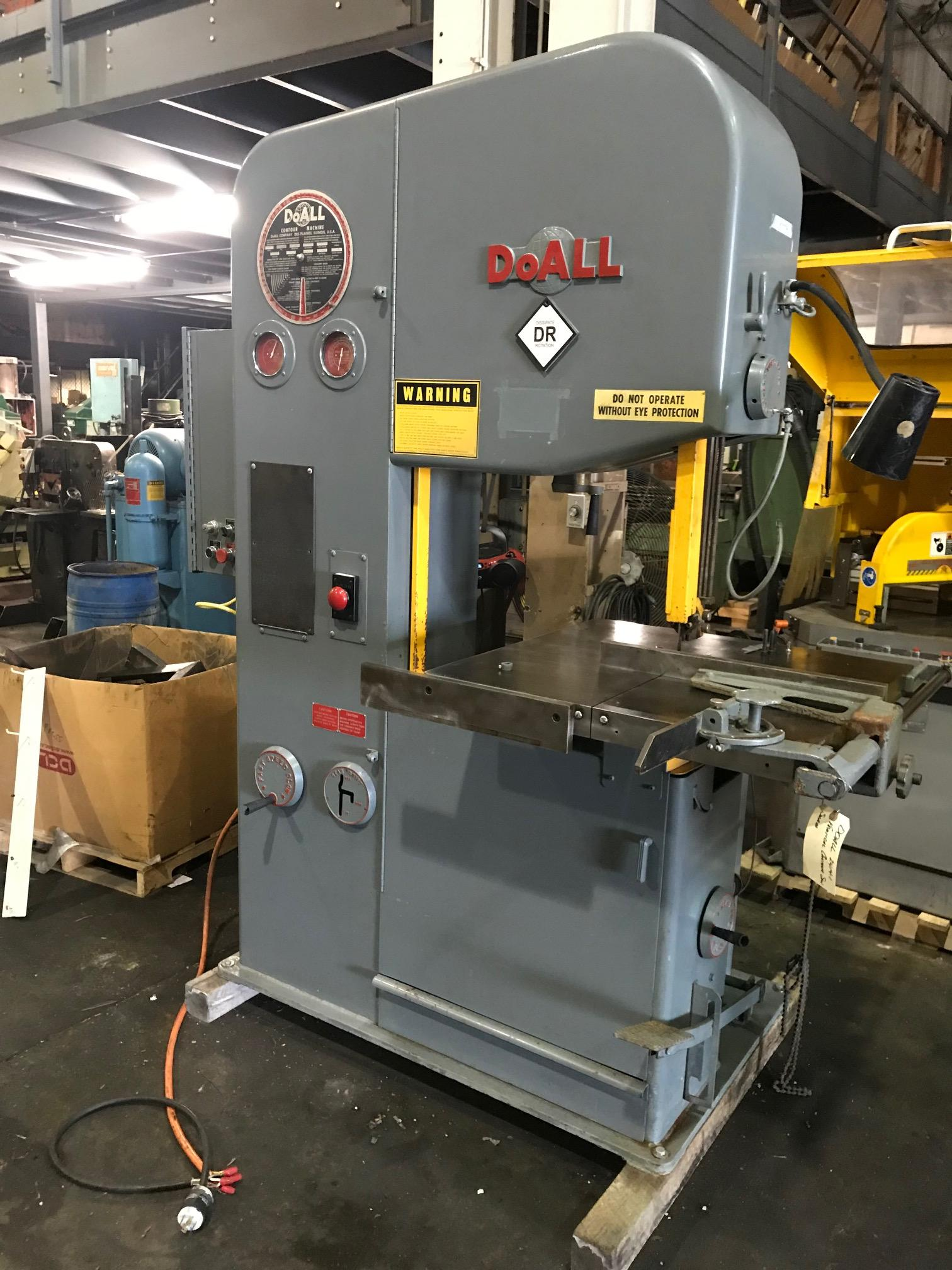 DoAll Vertical Contour Saw, Model 2614-1, Stock No. 10536, Year 1979