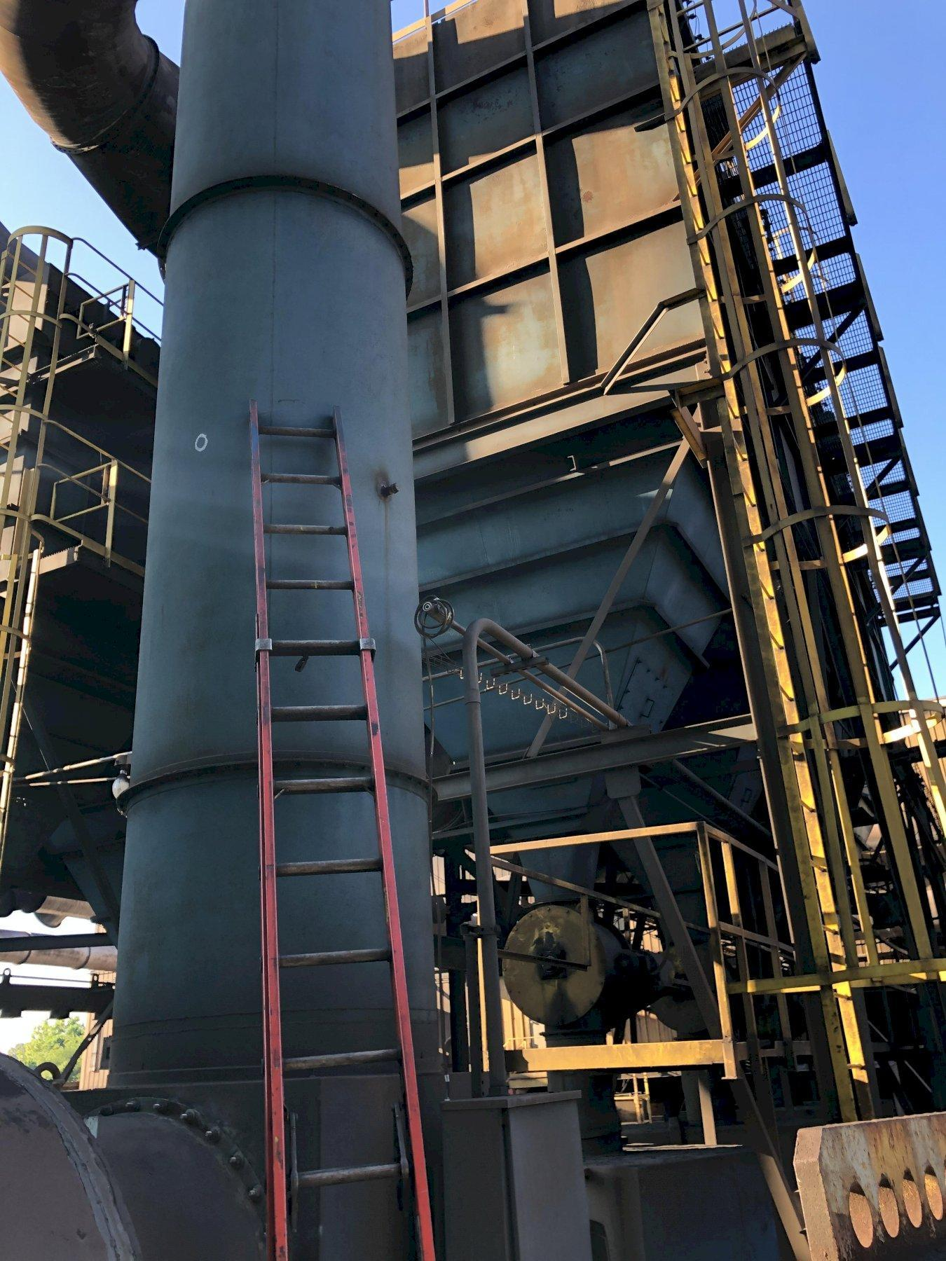 "Dust Collector 1, pulse bag 4 compartment each with 2 hp rotary air lock, 41,000 cfm, 12"" sp, garden city 445bf blower and 100 hp motor"
