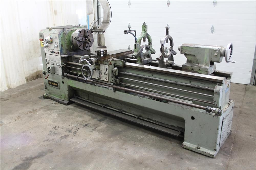 """24"""" / 32"""" X 84"""" T A SHING GAP LATHE WITH 3"""" HOLE: STOCK #59534"""