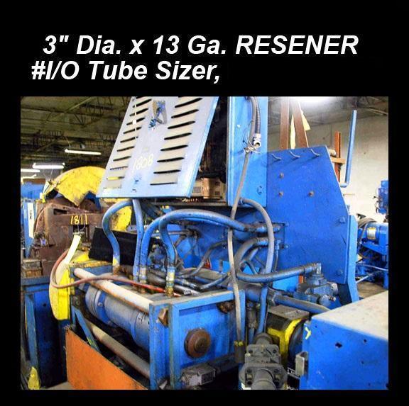 "3"" 76.2 mm Dia x 13ga Resener #1/0 Tube Sizer"