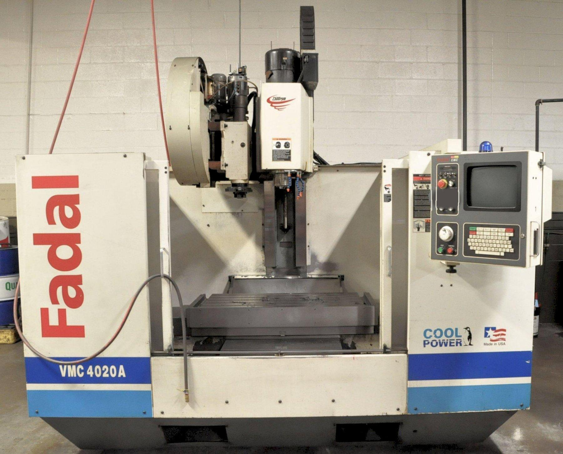 USED FADAL MODEL 4020A CNC VERTICAL MACHINING CENTER, Stock # 10815, Year 2002