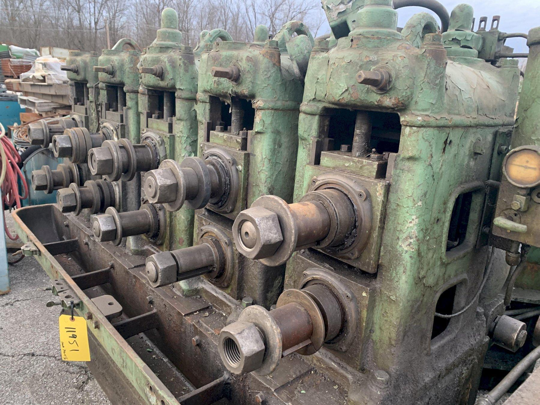 8 STAND AMERICAN ELECTRIC FUSION ROLLFORMER / TUBE MILL
